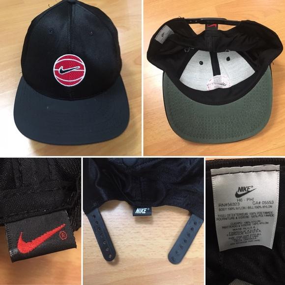Nike Other - Vintage Nike Basketball Swoosh Snapback Hat